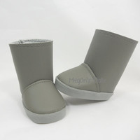 Gray Faux Leather Boots Low Cut or Mid Calf Boots for American Girl Dolls