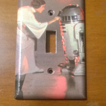 Star Wars R2-D2 and Princess Leia light switch cover