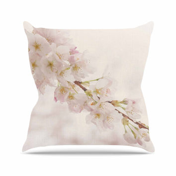 "Robin Dickinson ""It's That Time"" Floral Photography Outdoor Throw Pillow"