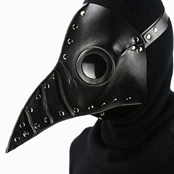 Atomic Black Dr. Plague Bird Mask with Black Rivets