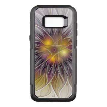 Luminous Colorful Flower, Abstract Modern Fractal OtterBox Commuter Samsung Galaxy S8+ Case