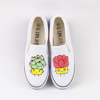 Summer Breathable Trainers Casual Shoes White Canvas Platform Shoes