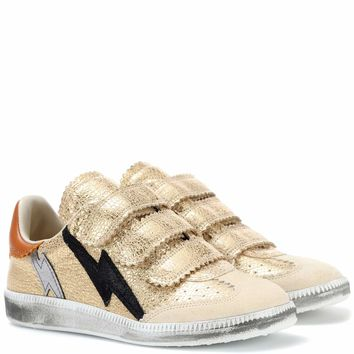 Beth metallic leather sneakers