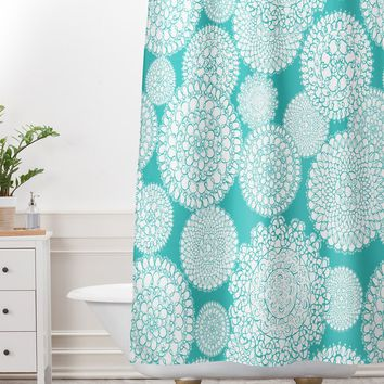 Heather Dutton Delightful Doilies Tiffany Shower Curtain And Mat