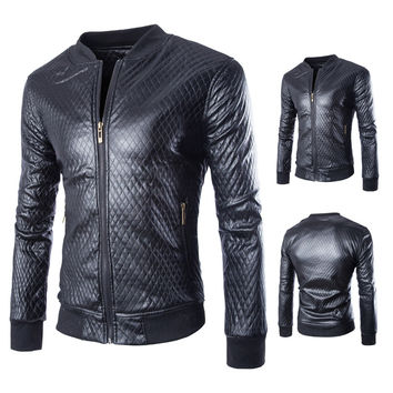 Men's Motorcycle Fashion Suede Leather Jacket