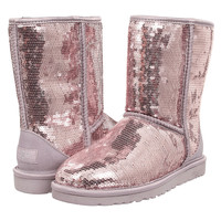 UGG Classic Short Sparkle Sequin Boots