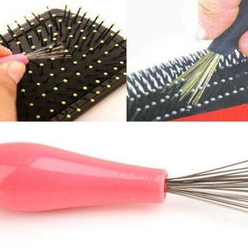 DCCKL72 Comb Hair Brush Cleaner Cleaning Remover Embedded Beauty Tools Plastic Handle Free Shipping ma