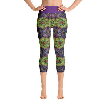 """Colliding Galaxies"" Deluxe Capri Yoga Pants"