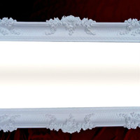 Wall Mirror White 96x57 Antique Baroque Shabby Chic Floor Mirror Vanity Mirror