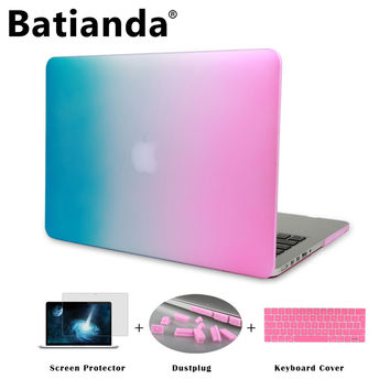 "Rainbow Gradient Matte Hard Sleeve Case Cover for MacBook Air 11"" 13"" Pro 13 15 Retina Display Touch Bar New 12 inch"