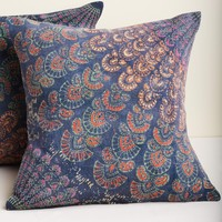 Hand Block Printed Quarter Medallion Pillow