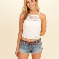 Girls High-Neck Crop Top | Girls Tops | HollisterCo.com