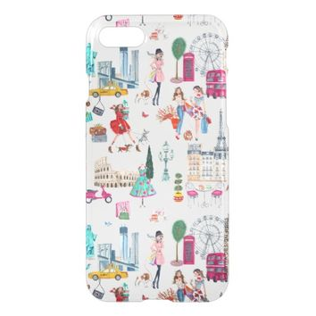 Shopping City Girl | iPhone 7 Clear Case