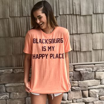 Blacksburg is My Happy Place Tee