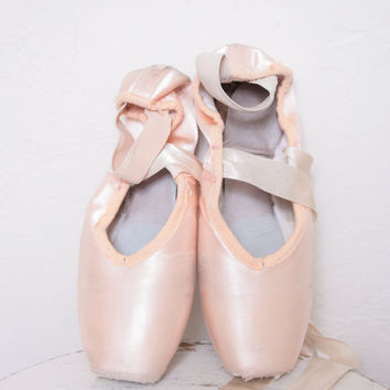 Vintage Pink Ballet Slippers with Long Ribbons