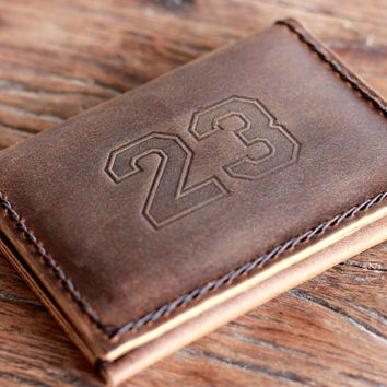 Varsity Number Wallet - Personalize your Favorite Number -- The Sports Fan's Dream Wallet by JooJoobs