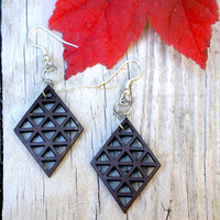 Geometric Earrings - Diamond
