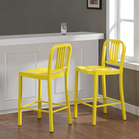 Metal Lemon Counter Stools (Set of 2) | Overstock.com Shopping - The Best Deals on Bar Stools