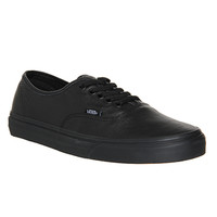 Vans Authentic Leather Black Mono - Unisex Sports
