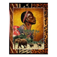 Praying and Watching Over the Animals of Africa Poster