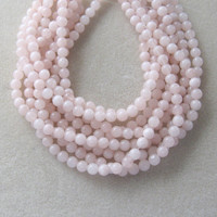 "Pink Jade Round Beads, Jewelry Making Beads, Gemstone Beads, Jade Beads, Ball Bead, Stone Bead, Craft Supply, Jewelry Design, 15"" Strand 8mm"