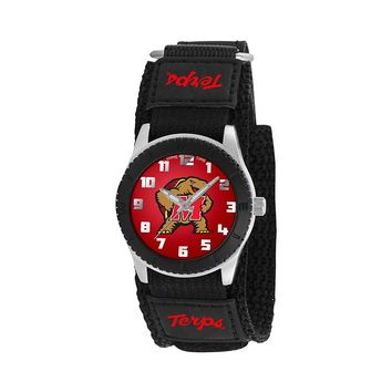 Game Time Rookie Series Maryland Terrapins Silver Tone Watch - COL-ROB-MD - Kids (Black)