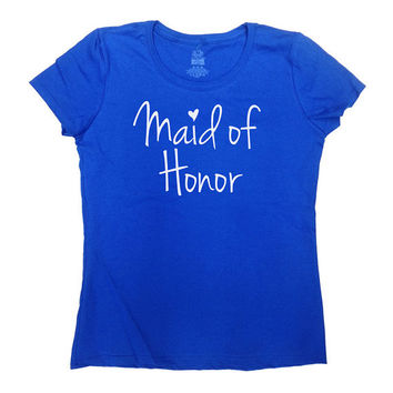 Maid Of Honor Shirt Wedding T Shirt Bachelorette Party Bridal Shower Shirt Bridesmaid Shirt Bride Team Bride Bridal Party Ladies Tee - SA60