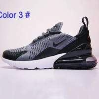 Nike Air Max 270 Men Women Running Shoes Contrats Sneakers B/A Black&Grey