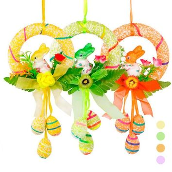 1pc Happy Easter Egg Rabbit Foam Hanging Easter Decoration For Baskets party Decor Bunny #30