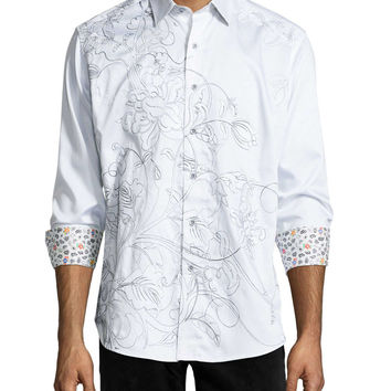 Coconut Island Embroidered Sport Shirt,