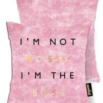 Bossy Rose Gold Velvet Pillow