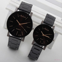 Fashion Women Men Couples Stainless Steel Analog Quartz Wrist Watch = 1929629764