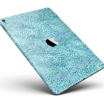 "Aqua Watercolor Leopard Pattern Full Body Skin for the iPad Pro (12.9"" or 9.7"" available)"
