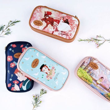 Anne of green gables multi zip around pouch