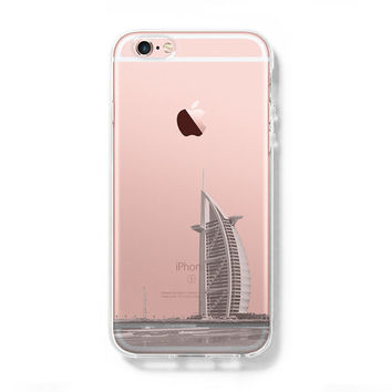 Dubai United Arab Emirates iPhone 6s Clear Case iPhone 6 plus Cover iPhone 5s 5 5c Transparent Case  Samsung Galaxy S6 Edge S6 Case