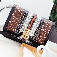 Burberry New fashion more letter leather shoulder bag crossbody bag