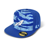 SLEEFS A Ice blue digital ripped snapback hat