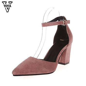 Women Pumps Summer Women Shoes Thick Heel Pumps Comfortable Shoes Woman Platform Shoes FC01