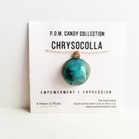 Chrysocolla P.O.M. Gemstone Candy Necklace