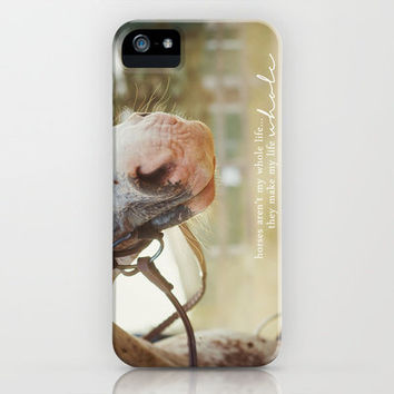 horses make life whole. iPhone & iPod Case by lissalaine
