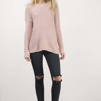 Bright As A Button Back Sweater
