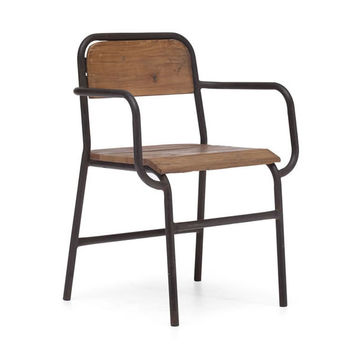 Zuo West Portal Dining Chair Distressed Natural 98151