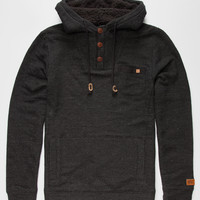 Billabong Rasta Mens Henley Hoodie Charcoal  In Sizes