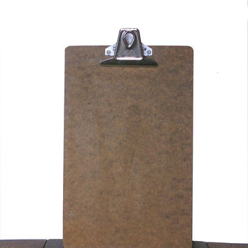 "Vintage Clipboard Small Vintage Office Supply or Office Decor by Quill Products, Inc. - 11"" x 7""  Size with Original Price Tag"