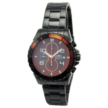 Invicta 7393 Men's Signature II Red & Black Dial Chronograph Black Ion Plated Quartz Watch