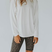 Ziggy Long Sleeve Pullover (White)