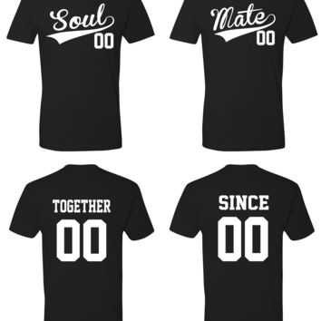 Soul Mate Inspired Together Since Matching Couple T-Shirt