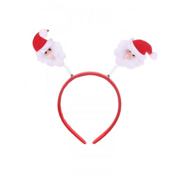 Novelty Adult Kids Christmas Reindeer Santa Hair Clip Headband