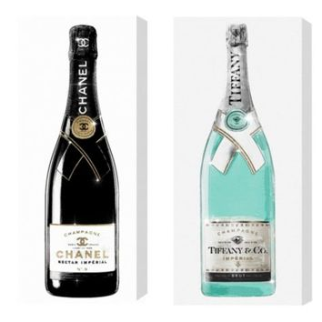 Champagne Deux - Set of 2 | Curated Art Collections | Art | Z Gallerie
