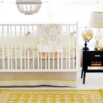 Gold & Gray Tribal Baby Bedding | Head West Collection
